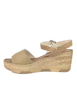 Sandalia Walk and Fly cuña camel