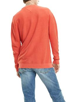 Jersey Tommy Jeans Washed naranja