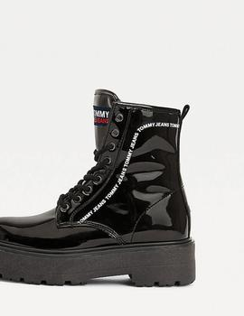 Botas Tommy Jeans Pat charol negro