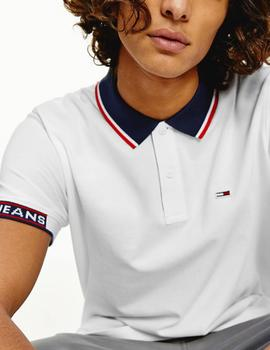 Polo Tommy Jeans blanco