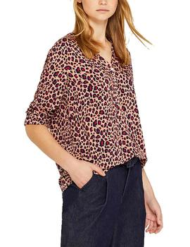 Blusa Esprit estampado animal rosa