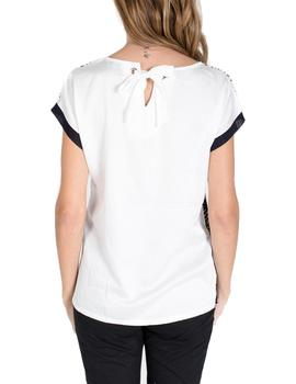 Camiseta Massana estampada blanco