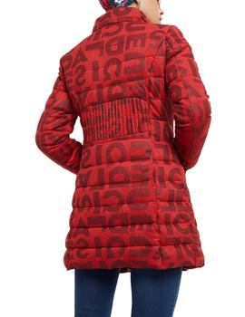 Chaqueta Desigual acolchada larga Letras rojo
