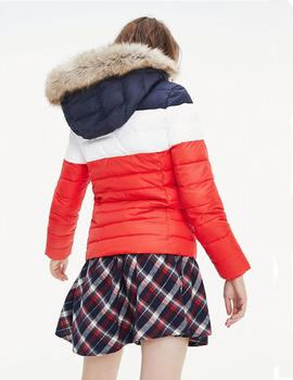 Chaqueta Tommy Jeans Modern Colorblock rojo