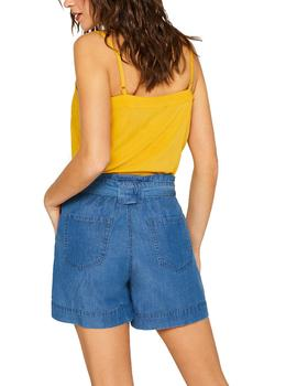 Short Esprit tencel azul