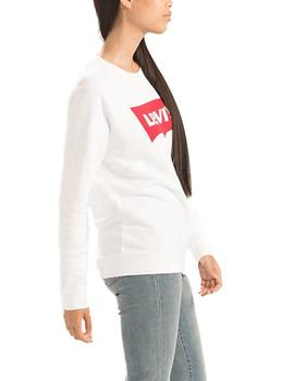 Sudadera Levis Relaxed Graphic Batwing blanco
