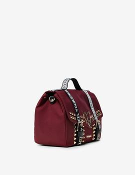 Bolso Desigual Bright Rock Bronx granate