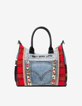 Bolso Desigual Red Denim Leeds multi